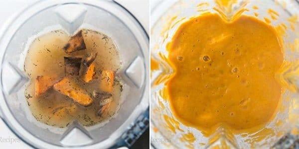 Cach lam sup khoai lang nuong